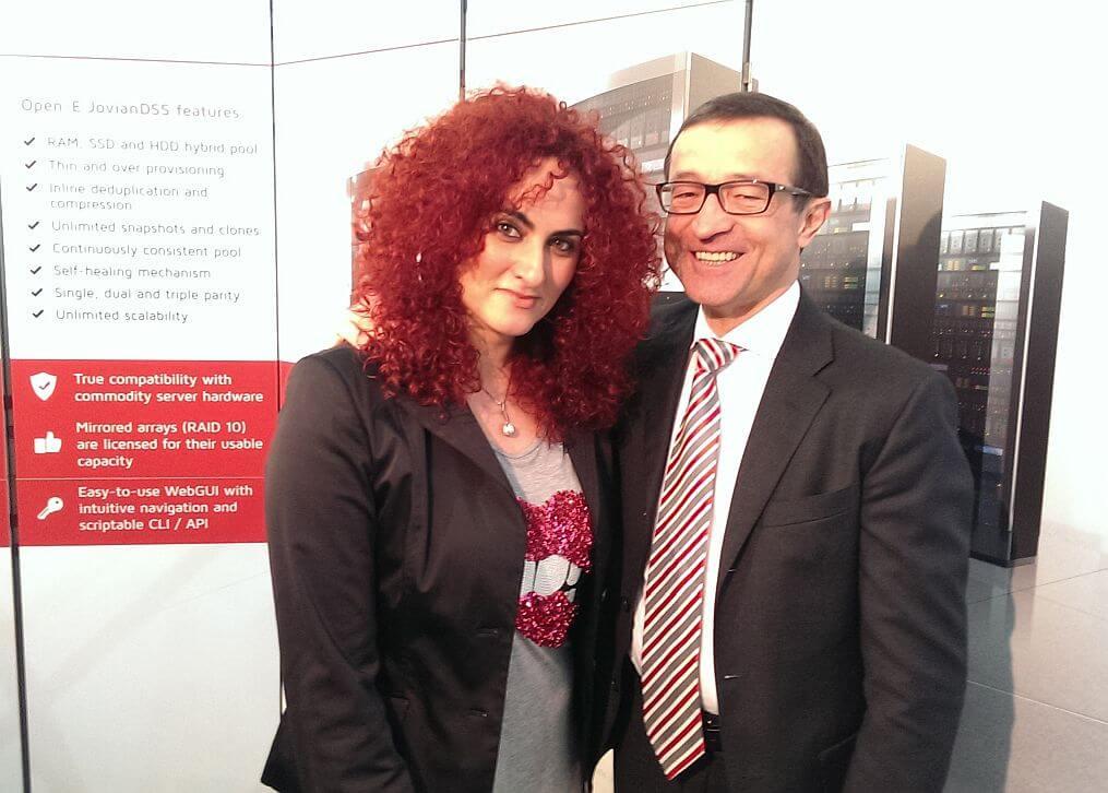 Open-E CEO - Krzysztof Franek with IT-Business representative