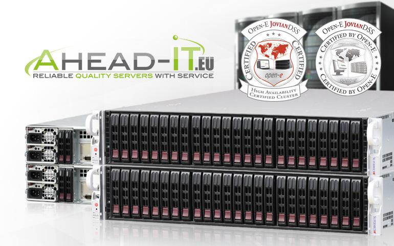 Open-E JovianDSS Certified Hardware Ahead IT