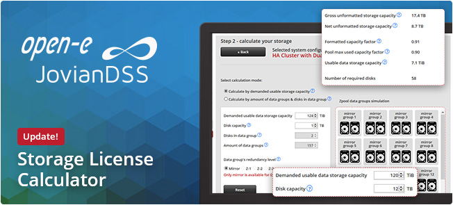 Open E Joviandss License Calculator