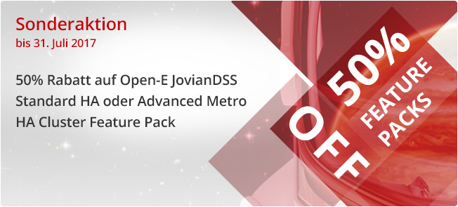 Open-E JovianDSS Feature Pack Sonderaktion