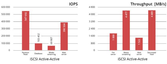 N-TEC rapidNAS JSS424 IOPS & Throughput graph