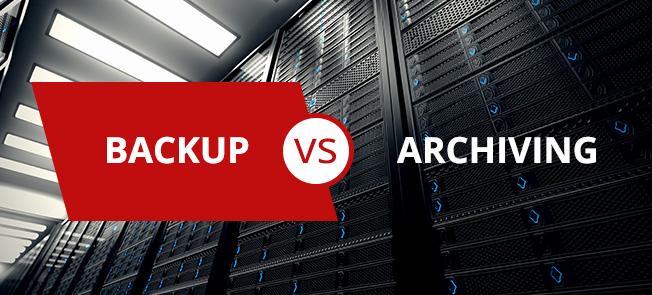 Backup vs. Archiving Blog Article