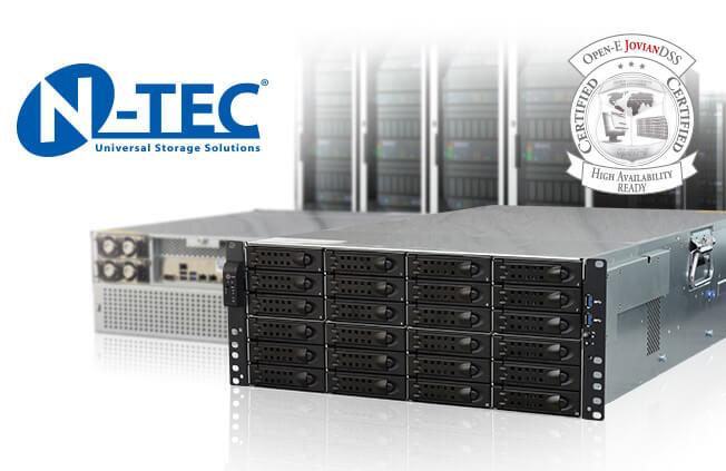 N-TEC rapidNAS JSS424 certified server
