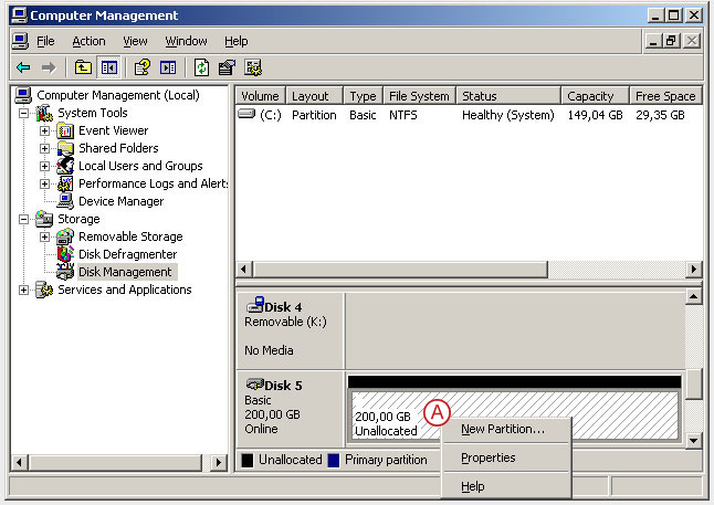 Connect to a DSS V6 iSCSI Target volume from a MS Windows - Initialize the disk from iSCSI target - pic 15