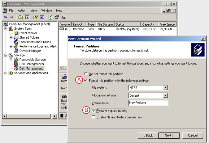 Connect to a DSS V6 iSCSI Target volume from a MS Windows - Initialize the disk from iSCSI target - pic 20
