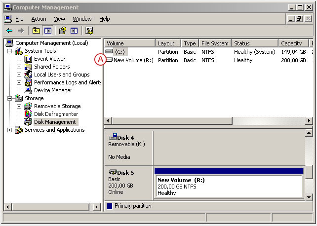 Connect to a DSS V6 iSCSI Target volume from a MS Windows - Initialize the disk from iSCSI target - pic 21