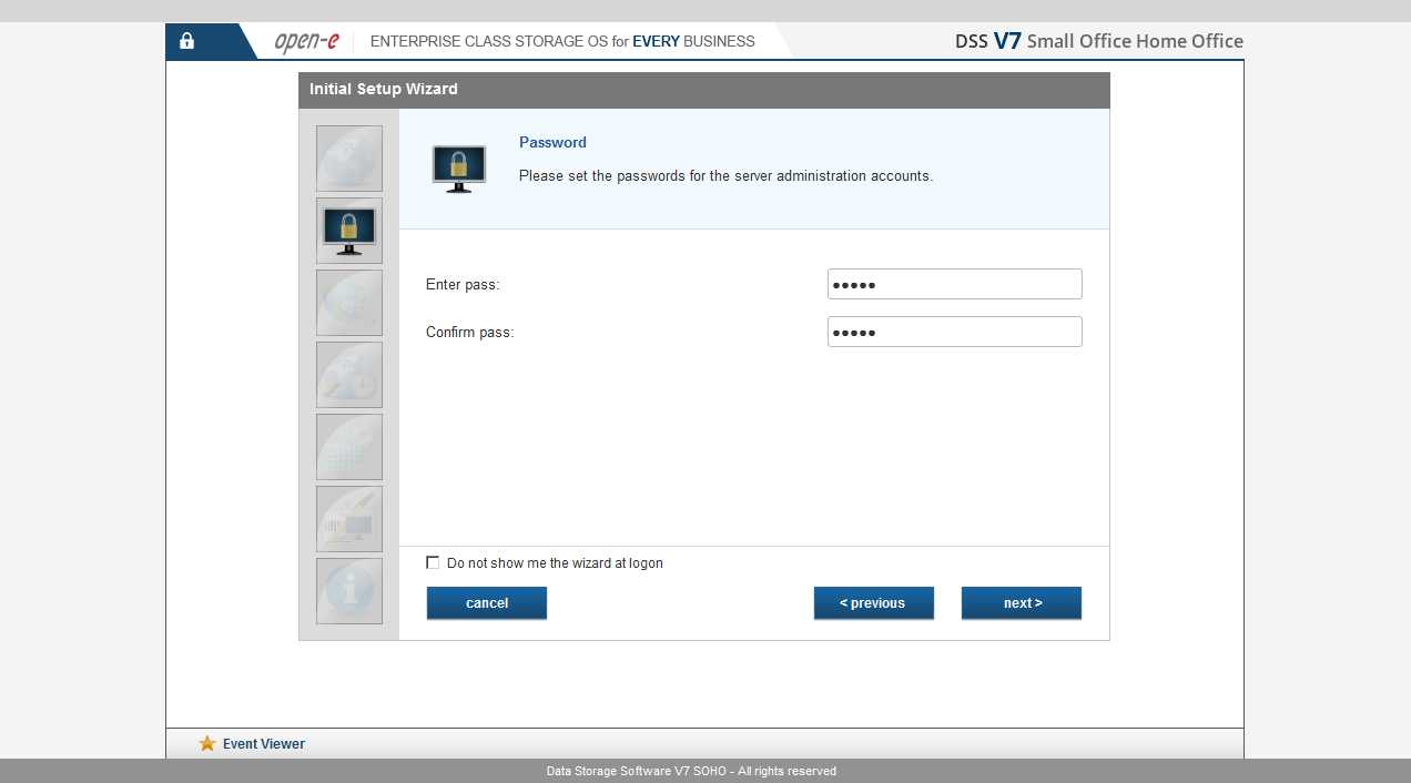 DSS V7 SOHO - Installation wizard 3/4